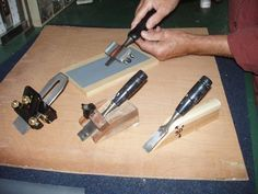 Learn how to sharpen a chisel with sandpaper.