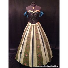 Princess Anna Coronation Gown FROZEN Adult Disney Replica Costume ❤ liked on Polyvore featuring costumes, disney, dresses, frozen, princess costumes, adult halloween costumes, adult costume, adult princess halloween costumes and princess halloween costumes