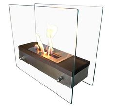 Stainless Steel Table Top Fireplace