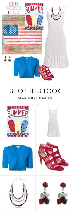 """""""Red, White & Blue: Celebrate the 4th!"""" by alara-cary ❤ liked on Polyvore featuring Michael Kors, Monsoon and Erica Lyons"""