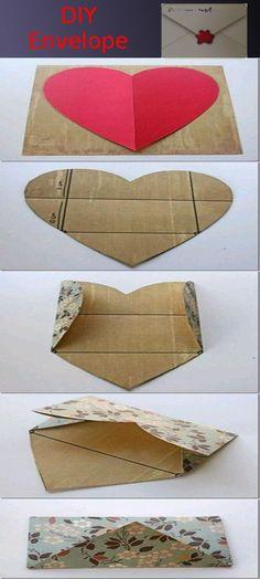 DIY envelopes (use scrapbook paper for fun prints)