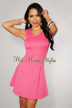 Hot Pink Sleeveless Dress