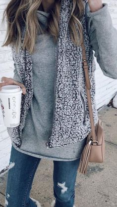 Love this fuzzy vest! So cute and warm!