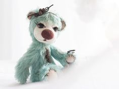 SALE  20 off Collectible mohair teddy bear Piper by SoftlyBearPaw, $259.00