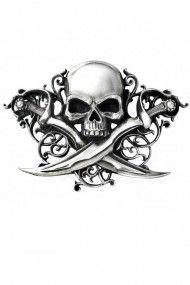 Letter Of Marque Belt Buckle #pirate #jollyroger #skull #dagger #beltbuckle #badass
