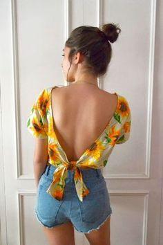Para dar boas vindas ao verão: costure uma camisa fresquinha (e cheia de Girassóis!) | dcoracao.com