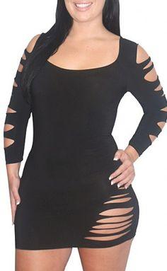 black sexy plus size club dress, club wear , curvy https://cleopatrafashion.com/black-sexy-plus-size-club-dress/