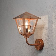 Moderne Wandleuchte Fenix aus Kupfer und Acrylglas in...