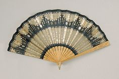 Fan Made Of Wood, Silk, Metallic, Sequins, Mother-Of-Pearl And Metal - French    c.1900-1915 The Metropolitan Museum Of Art