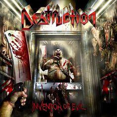 Destruction Inventor Of Evil Sealed Cd Heavy Metal Rock, Heavy Metal Music, Heavy Metal Bands, Destruction Band, Hard Rock, Metal Albums, Band Photos, Metal Artwork, Thrash Metal