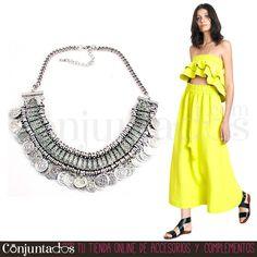 Un #must-have de este verano: volantes y nuestro ideal #collar de monedas ★ 14,95 € en http://www.conjuntados.com/es/collares/collar-plateado-de-monedas.html ★ #novedades #necklace #conjuntados #conjuntada #joyitas #lowcost #jewelry #bisutería #bijoux #accesorios #complementos #moda #fashion #fashionadicct #picoftheday #outfit #estilo #style #GustosParaTodas #ParaTodosLosGustos
