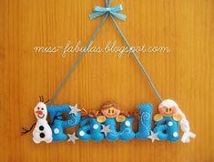Miss Fábulas: CARTELES Felt Name Banner, Felt Letters, Name Banners, Baby Shawer, Felt Baby, Felt Crafts, Diy And Crafts, Felt Wreath, Felt Decorations
