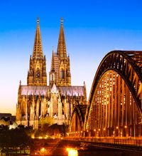 Cologne Evening Sightseeing Cruise #cologne #rhineriver