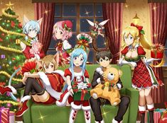 "More Sword Art Online - Code Register Christmas Outfits Joined by New Idol Promotion - - Event lead up to an ""Idol in Fairy World!"" quest on the that will offer an otoko no ko idol Kirito card. Schwertkunst Online, Arte Online, Sinon Ggo, Kirito Asuna, Instagram Collage, Sword Art Online Asuna, Diy Beauty Hacks, Tous Les Anime, Desenhos Love"