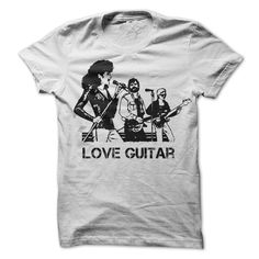 (Tshirt Discount) LOVE GUITAR [Hot Discount Today] Hoodies, Funny Tee Shirts