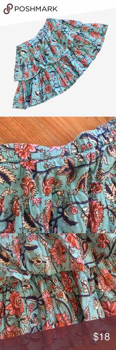 Peek Floral Skirt Floral tiered skirt Peek Bottoms Skirts