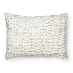 Neutral Printed Texture Oblong Toss Pillow Beige - Threshold™ : Target