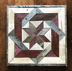 Reclaimed Wood Barn Quilt Square,Reclaimed Wood Barn Quilt Square How To Make Wood Art ? Wood art is typically the job of shaping about and inside, provided the surface of anything is. Barn Quilt Designs, Barn Quilt Patterns, Quilting Designs, Reclaimed Wood Wall Art, Wood Art, Wood Wood, Painted Wood, Salvaged Wood, Recycled Wood