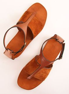 leather + suede sandals