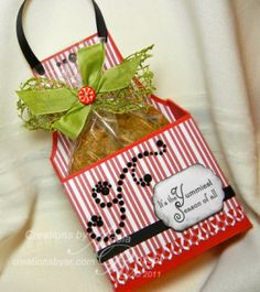 """I know this is for Christmas; but, it would be so cute for a """"Kitchen Shower"""" cookie, also!"""