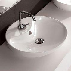 Scarabeo Shape Aufsatzwaschtisch, rund weiß - 8098 | Reuter Onlineshop