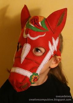 Swedish side: Dala Horse Mask hahahaha @Abby Hellem next year you need to be a dala horse for halloween