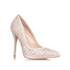 Gemini, pink satin and diamente high heeled court by Carvela Kurt Geiger