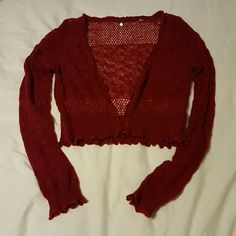 "Anthropologie Red Wool/Alpaca/Nylon Cartigan Gorgeous Anthropologie brand cartigan. Worn once. Perfect condition. Beautiful details and very light. It says ""Knitted & Knotted"" on the tag. Size L but could fit a M. Anthropologie Sweaters Cardigans"