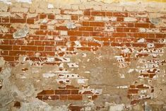 How to distress a brick wall - A full or partial brick wall in your home can accent your fireplace or add an old-world feel to your room. But if your house is relatively new, the brick may be too clean and bright to fit your . Brick Fireplace Wall, Old Brick Wall, Faux Brick Walls, Brick Fireplace Makeover, Wall Fireplaces, Brick Interior, Interior Walls, Distressed Walls, Modern Home Furniture