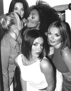 SPICE GIRLS!!! I wanted to be Posh at sleepovers and Sporty Spice on the playground. Their lyrics always put a smile on my face.