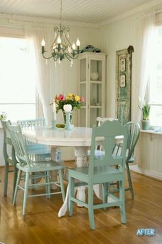 Shabby Chic Home Accessories shabby chic chairs farm house.Shabby Chic Fabric How To Make. Style At Home, Küchen Design, House Design, Interior Design, Design Ideas, Cottage Design, Diy Interior, Kitchen Interior, Room Interior