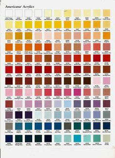 Pin By Virginia Orton On Color Mixing Paint Color Chart