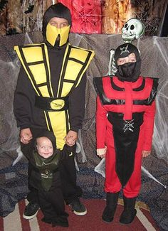 25 DIY Costumes for a Family Themed Halloween. Mortal Kombat ...