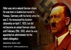 Hitler Facts – not a German citizen