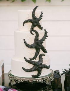 Romantic Gothic Beach Cake