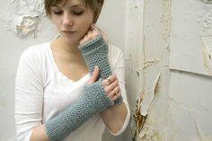 wool long fingerless mittens