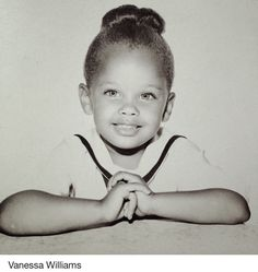 Vanessa Williams Miss America 1984 Actress Singer African American Beauty Queen 👸🏽 Celebrity Baby Pictures, Celebrity Babies, Celebrity Children, Celebrities Then And Now, Young Celebrities, Celebs, Vanessa Williams, Childhood Photos, Star Children