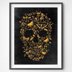 ". ""Skull Butterfly"" . society6.com/franciscovalle . #skull #decor #decoração #interior #interiordesign #unitedkingdom #london #paris #france #butterfly #brasil #norway #oslo #montreal #style #instaart #uk #skalle #england #arch #love #sweden #life #artgallery #nature #instahome #skulls #caveira #yellow #vintage"