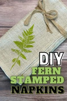 Make these fern stamped linen napkins using real fern leaves and fabric ink – the perfect handmade touch to your dinner table or hostess gift!  #home #crafttutorials #DIYdecor #stamping #handmade #hostessgift #handmade #easycrafts #floralcrafts