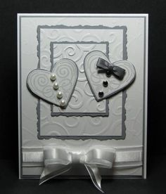 Wedding Card CASE by Broom - Cards and Paper Crafts at Splitcoaststampers bridal - Homemade Cards, Rubber Stamp Art, & Paper Crafts - Splitcoaststamper. Pretty Cards, Love Cards, Diy Cards, Wedding Cards Handmade, Greeting Cards Handmade, Wedding Shower Cards, Card Wedding, Wedding Invitations, Karten Diy
