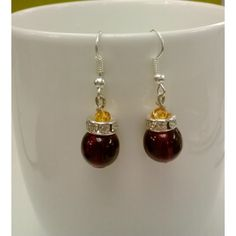 Maroon with white stone hanging