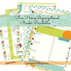 Bright Colors Home Organization Binder Printables - FREE!