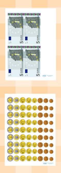 Twinkl Resources >> Euro Money Cut-Outs >> Classroom printables for Pre-School, Learning Money, Spanish Teaching Resources, Counting Money, Money Games, Budget Planer, Facts For Kids, Pre School, Math Activities, Elementary Schools