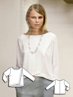 Boxy Wrap Blouse