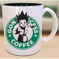 Gon Freecss X Hunter X Hunter X Starbucks Gamer Anime Manga Inspired... ($15) ❤ liked on Polyvore featuring home, kitchen & dining, drinkware, green coffee mugs, handmade mugs, handmade coffee mugs, inspirational coffee mugs and coffee tea mugs