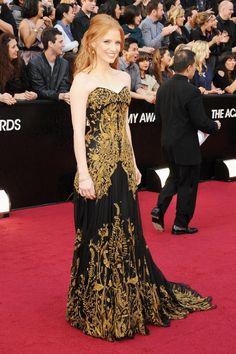 Jessica Chastain, Alexander McQueen, 2012 Academy Awards