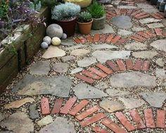 brick and stone mosaic