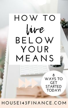 Learn how to live below your means with these tips Living below your means is crucial to sticking to your budget saving money and reaching financial independence PIN ME f. Ways To Save Money, Money Tips, Money Saving Tips, Saving Ideas, Money Budget, Money Hacks, Frugal Living Tips, Frugal Tips, Budgeting Finances