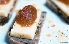 Manchego and Membrillo on Olive Bread