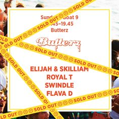 Sunday Boat 9 - Butterz *Sold Out*